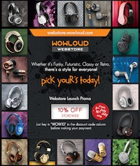 WOWLOUD launches audio hardware webstore